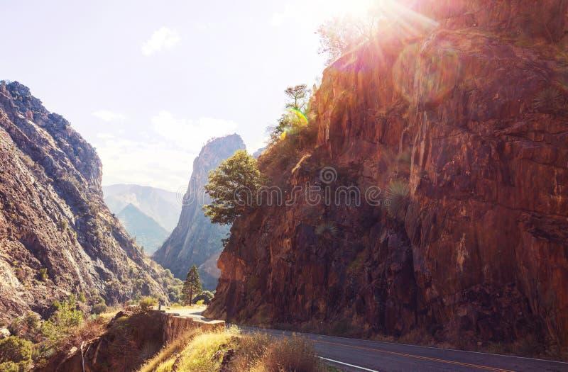 Kings Canyon. Kings River Canyon in Kings Canyon and Sequioa National Park. California. USA stock photos