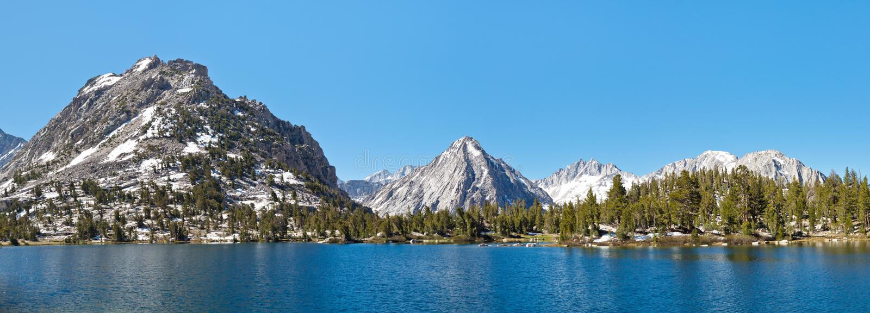 Kings Canyon National Park Alpine Lake Panorama stock images