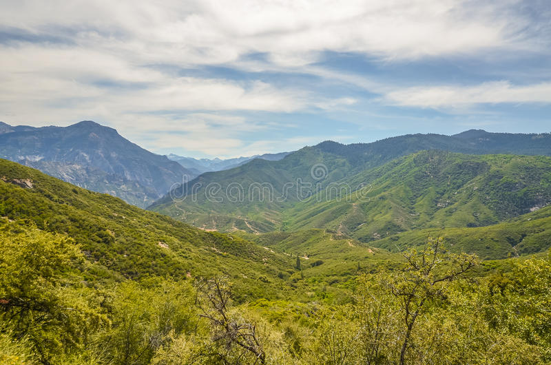 Kings canyon national park. Kings river in Sequoia and kings canyon national park, CA royalty free stock photo