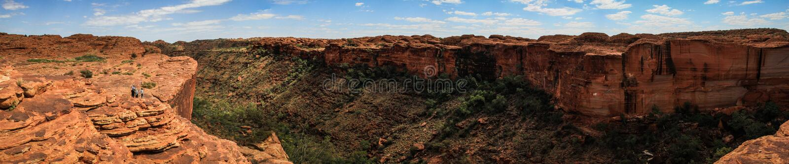 Panoramic view on the impressive King`s Canyon, Northern Territory, Australia. Kings Canyon is a canyon in the Northern Territory of Australia located at the royalty free stock photography