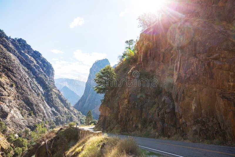Kings Canyon. Kings River Canyon in Kings Canyon and Sequioa National Park. California. USA stock image