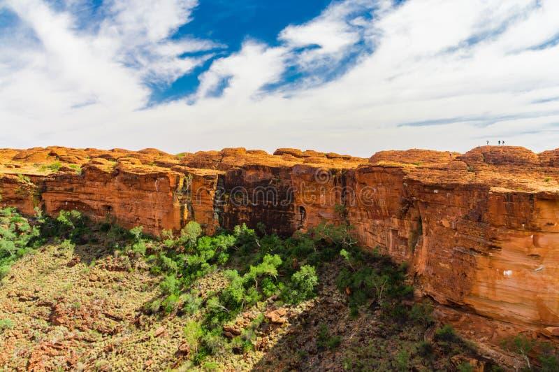 Kings Canyon. Steep walls of Kings Canyon, Nothern Territory, Australia royalty free stock images