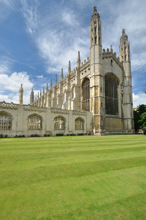Kings college cambridge. Front of kings college Cambridge stock image