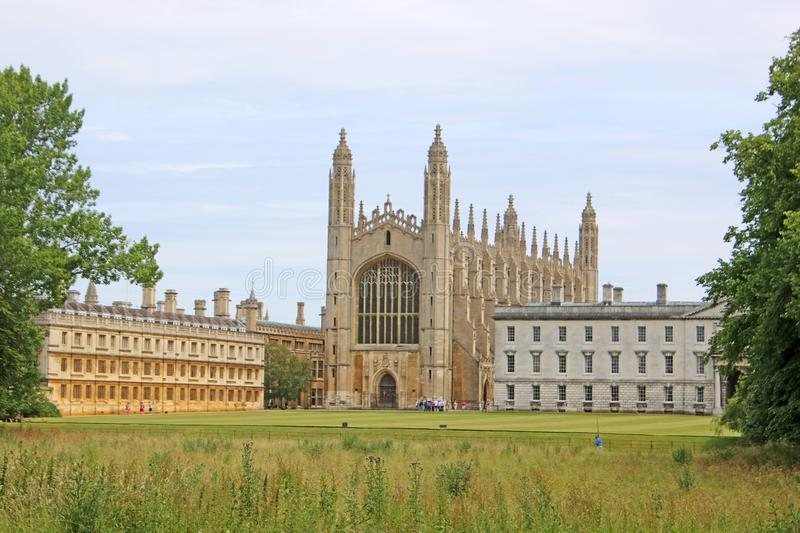 Kings College, Cambridge. Kings College Cambridge from the Backs stock photos
