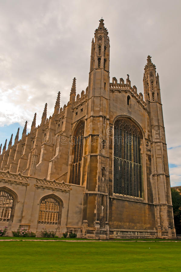 Kings College Chapel. Details of the Gothic architecture of the famous Kings College Chapel, Cambridge, UK royalty free stock photo