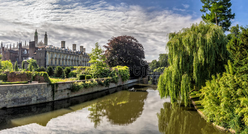 Kings college chapel Cambridge. Kings college chapel from the backside, Cambridge, UK stock photo