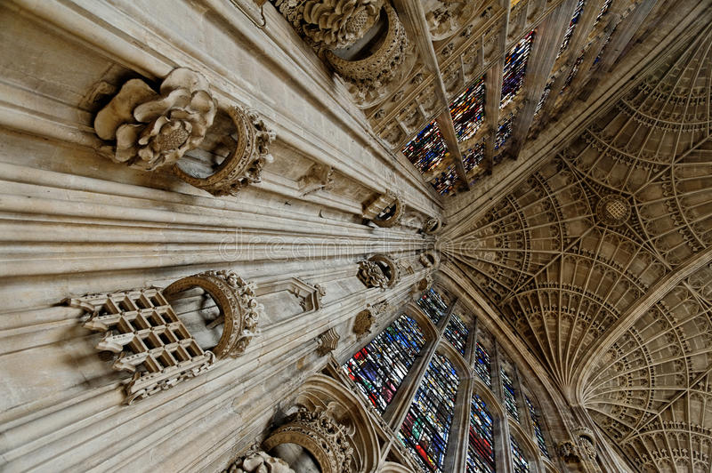 Kings College chapel. Detail of Kings College, Cambridge, England, UK royalty free stock photography