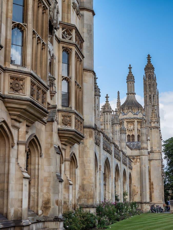 Kings college Universiteit en kapel in Cambridge, Engeland stock afbeelding