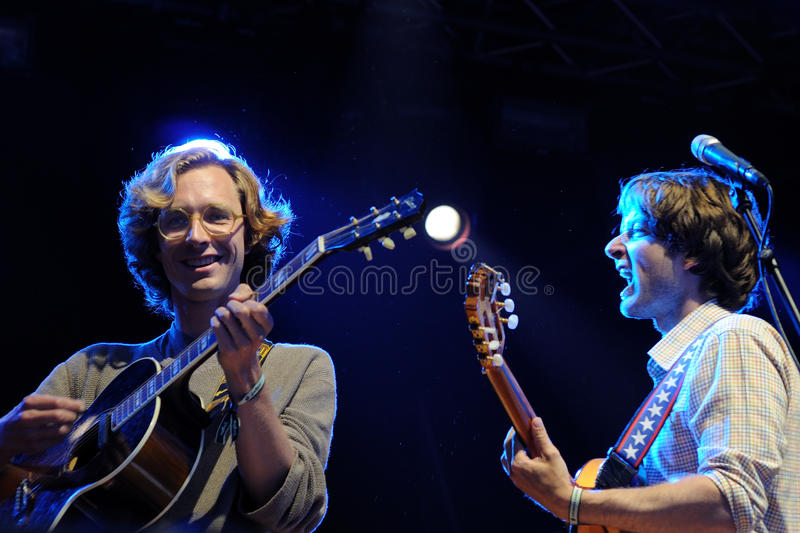 Kings of Convenience band performs at San Miguel Primavera Sound Festival stock photos