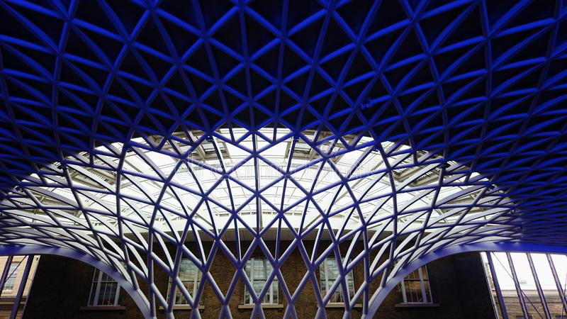Kings cross. Architectural art at kings cross station, London royalty free stock photography