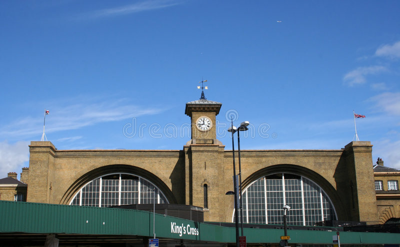 Kings Cross Railway Station. London stock images