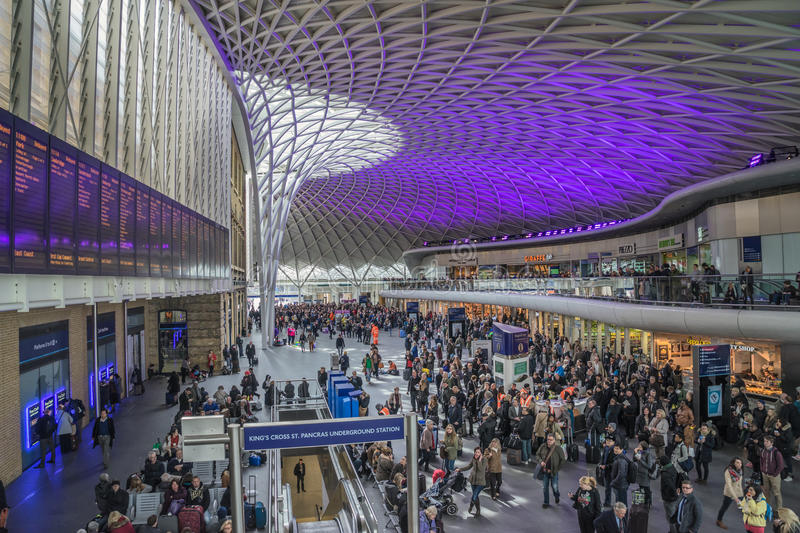 Kings Cross Railway Station royalty free stock photos