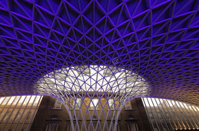 Kings Cross Station roof royalty free stock photo