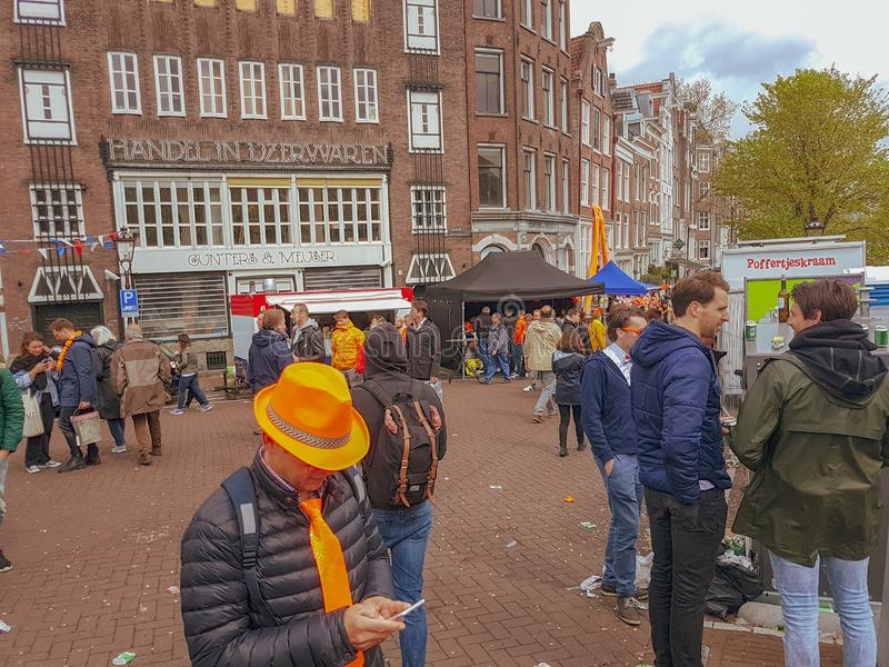 Kings day Amsterdam 2019 stock photos