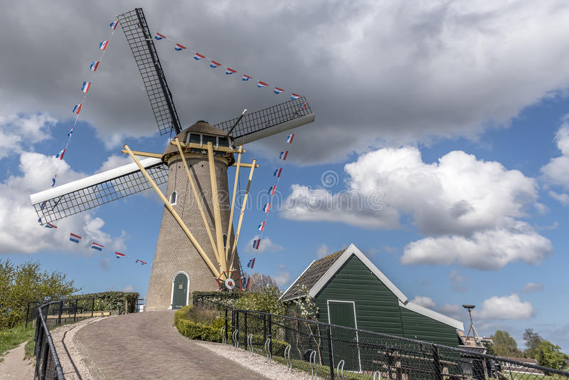 Kings Mill. Mill taken during Kings Day 2015- 27th April royalty free stock photos
