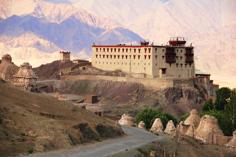 Kings palace in Stok, Northern India stock photo