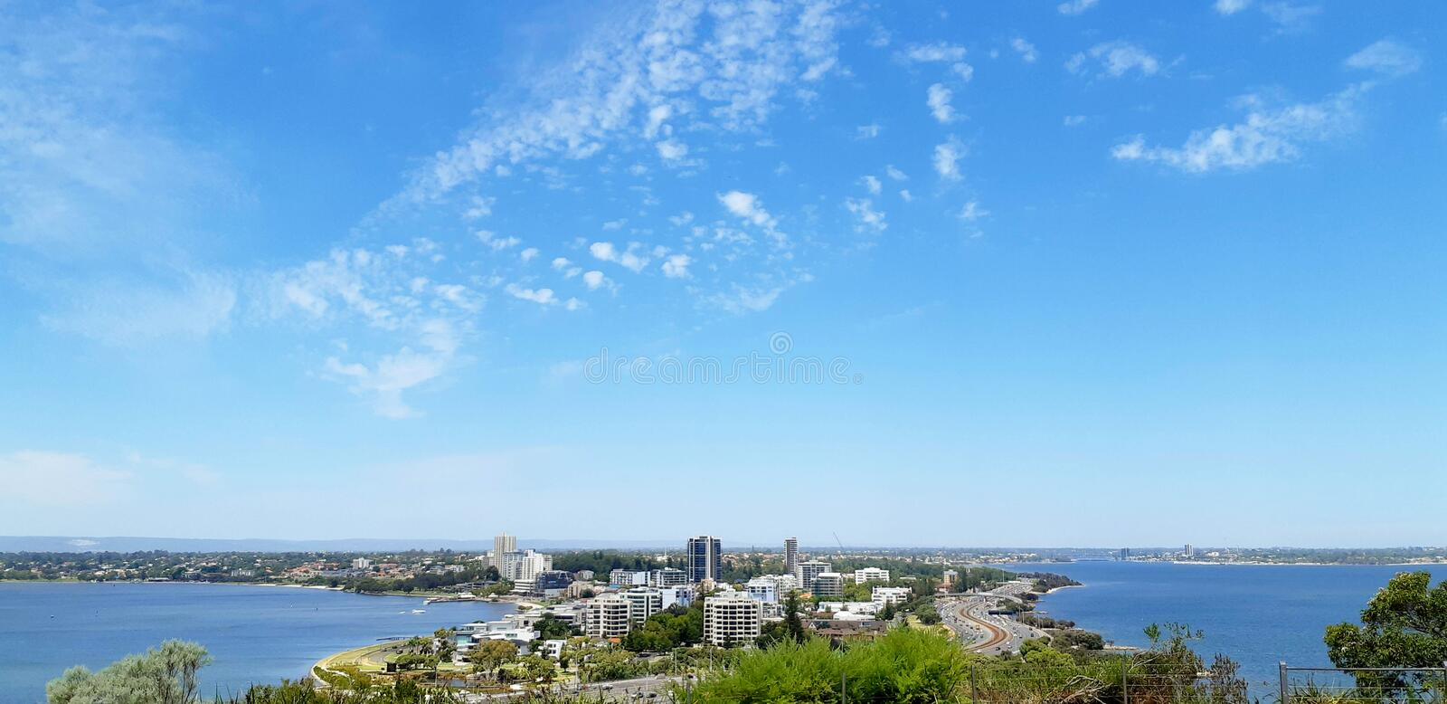 kings park and botanic garden in Perth stock photo