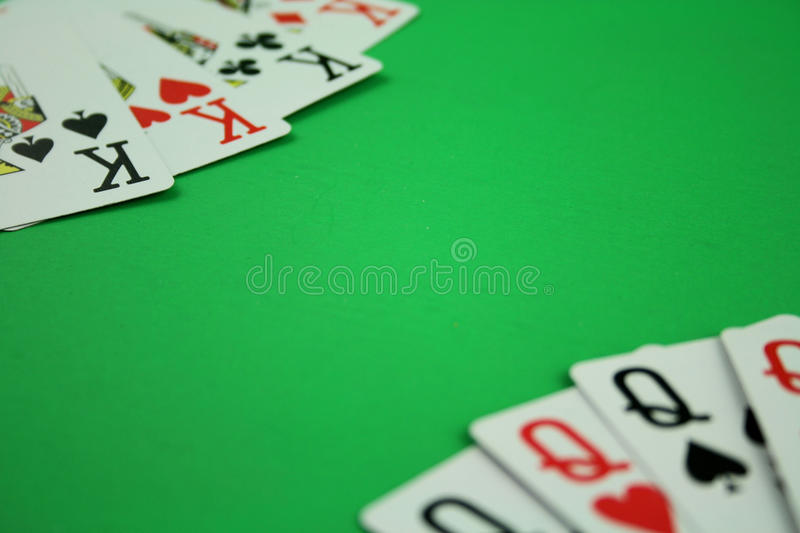 Kings and Queens. Playing Cards Layed in Kings and Queens royalty free stock photography