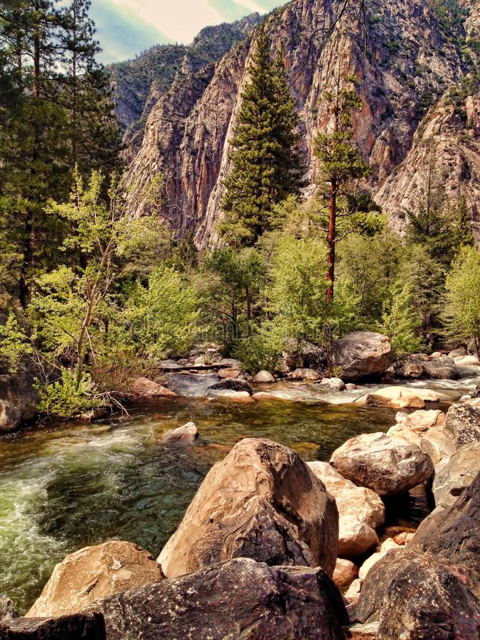 Kings River in Kings Canyon royalty free stock photography