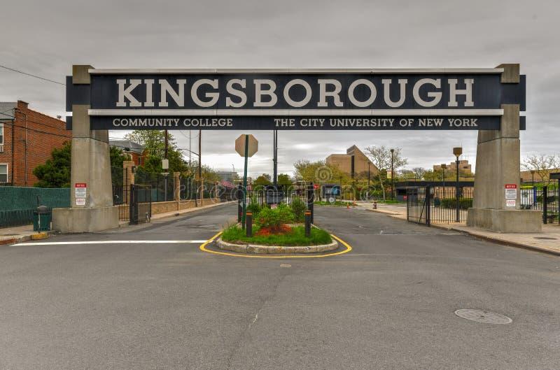 Kingsborough-Volkshochschule - Brooklyn, New York stockbild