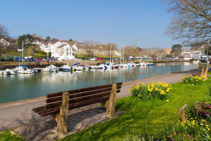 Kingsbridge Devon England. Quayside at Kingsbridge Devon England UK Europe royalty free stock images