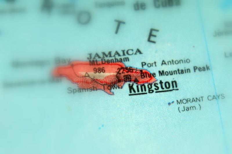 Kingston en stad i Jamaica royaltyfri bild