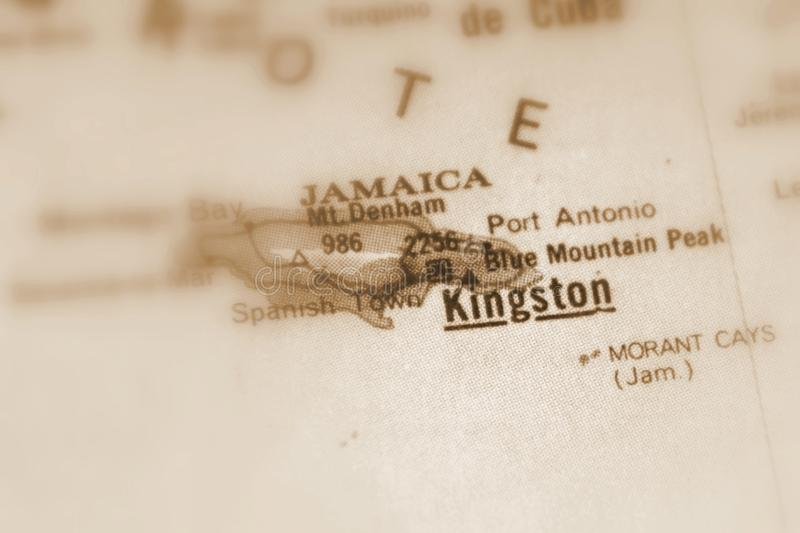 Kingston en stad i Jamaica royaltyfri fotografi