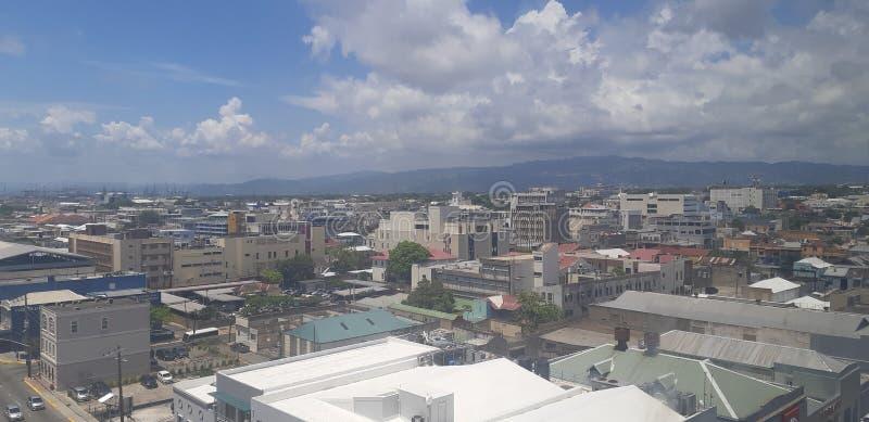 Kingston Jamaica. Downtown, building, crime stock image
