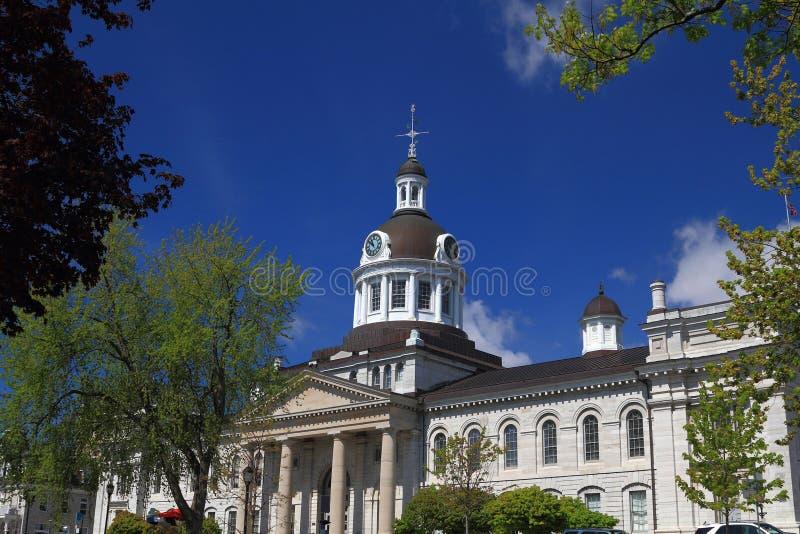 Kingston Ontario, Kanada stad Hall Front View arkivbild