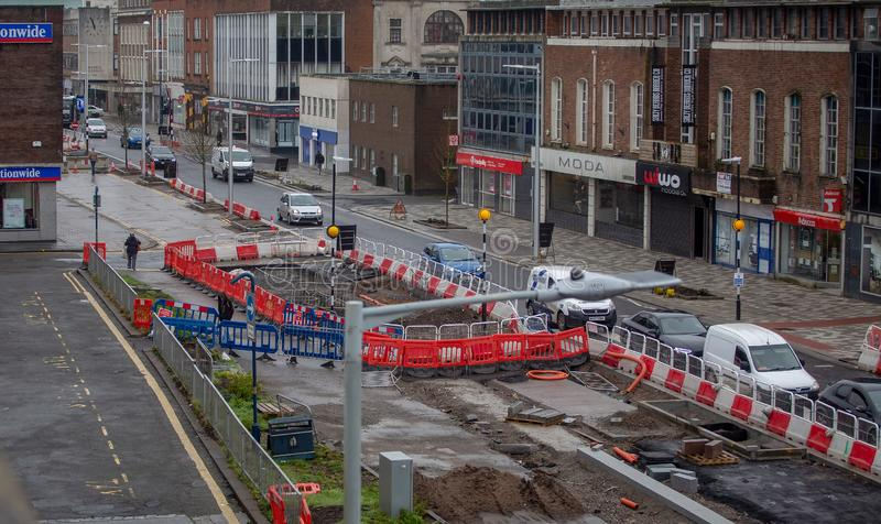 Kingsway Swansea Dawnus editorial stock photo. Image of ...