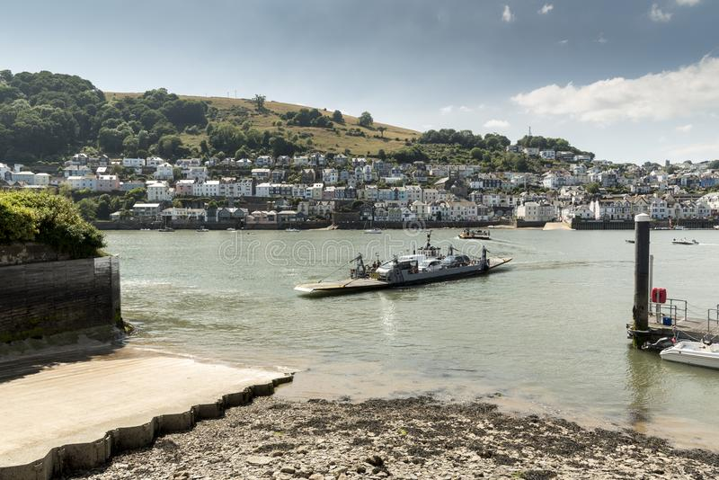 Kingswear/Dartmouth abaissent le ferry image stock