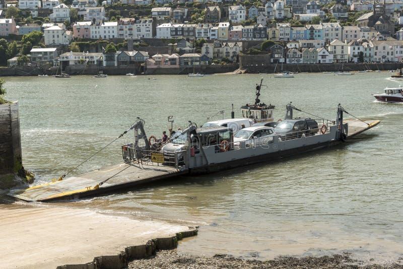 Kingswear/Dartmouth abaissent le ferry photo libre de droits