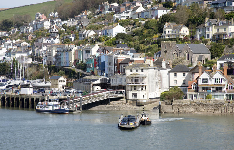 Kingswear Devon England seen across the River Dart stock photo
