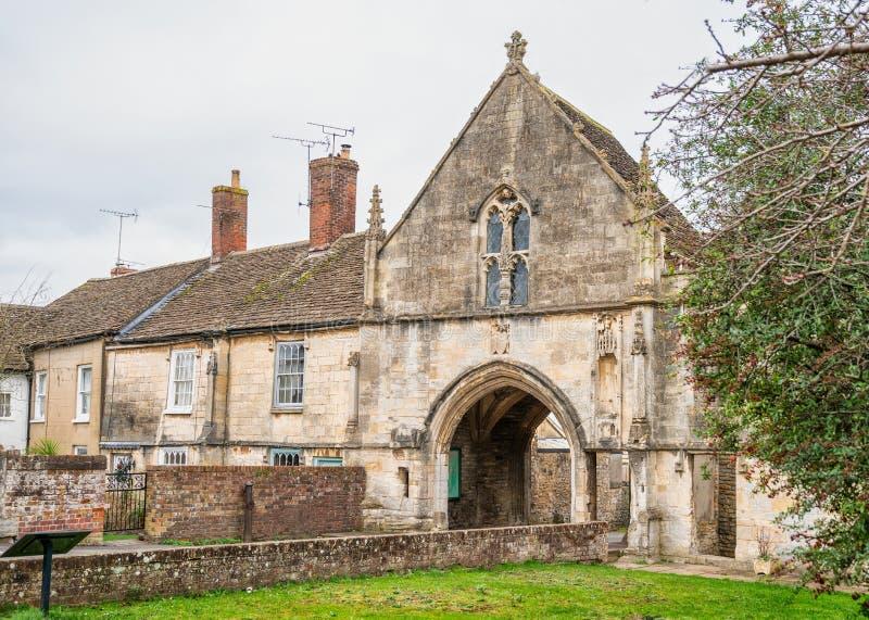 Kingswood Abbey Gateway, Kingswood, Gloucestershire, Regno Unito fotografia stock
