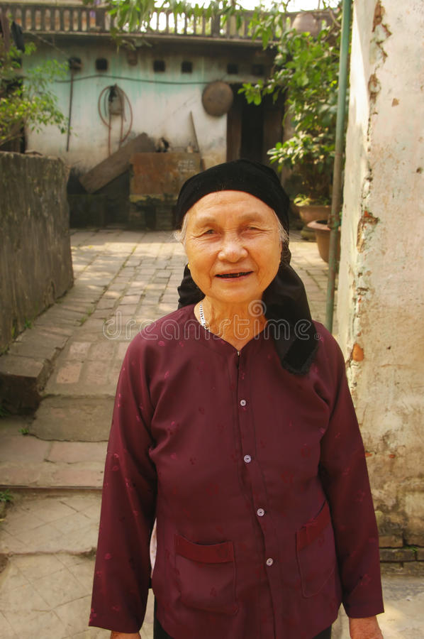 Kinh( Viet ) ethnic grandmother royalty free stock photos