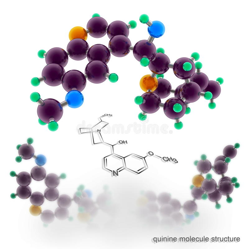 Kininmolekylstruktur stock illustrationer