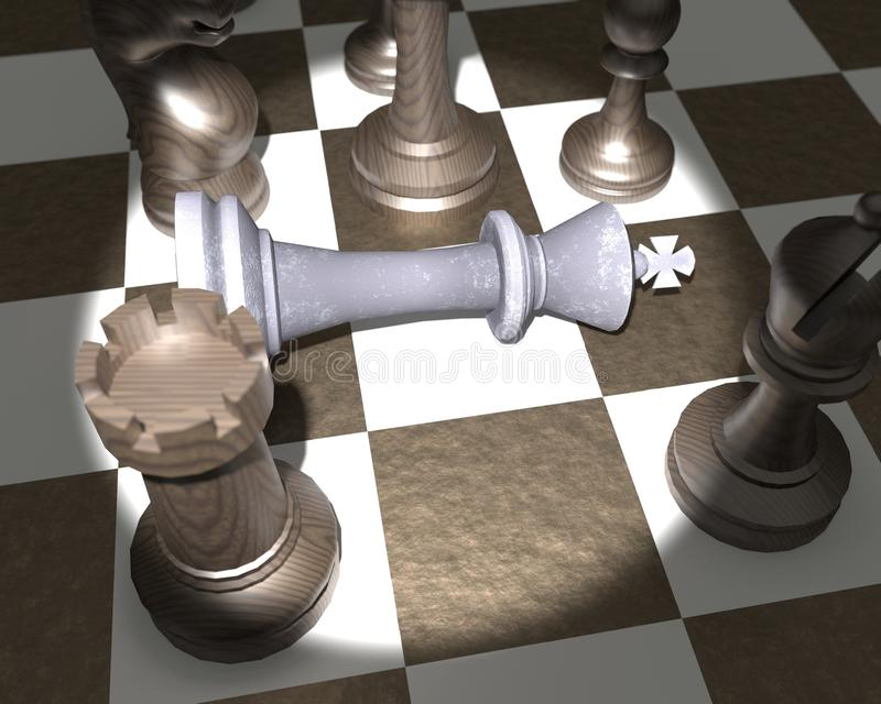 King is Check mate stock photo