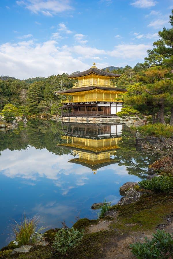 Kinkaku-JI, le pavillon d'or à Kyoto, Japon photographie stock libre de droits