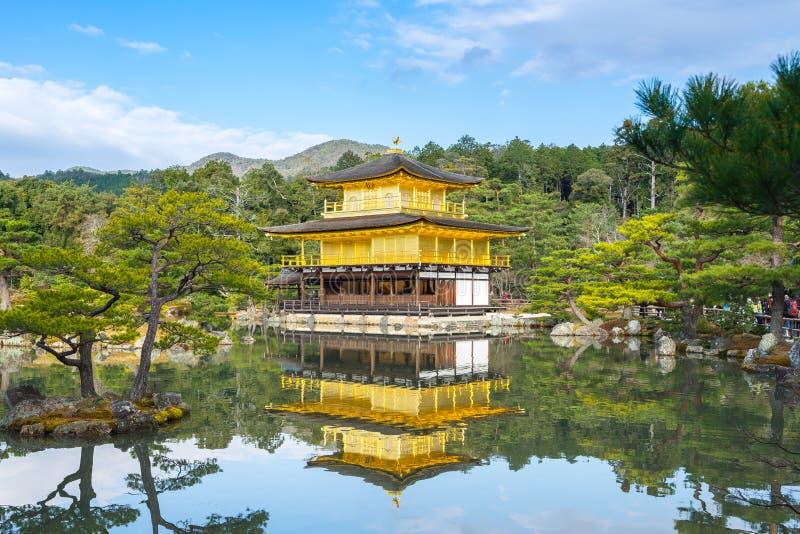 Kinkaku-JI, le pavillon d'or à Kyoto, Japon photos stock