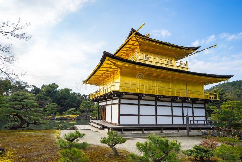 Kinkaku-JI, le pavillon d'or à Kyoto, Japon images libres de droits