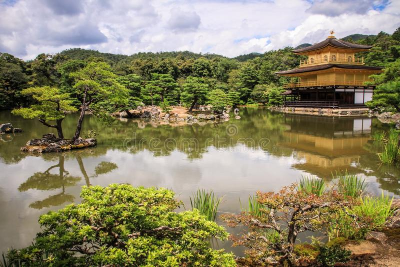 Kinkaku-ji temple, literally `Temple of the Golden Pavilion`, kyoto, Kansai, Japan stock photo
