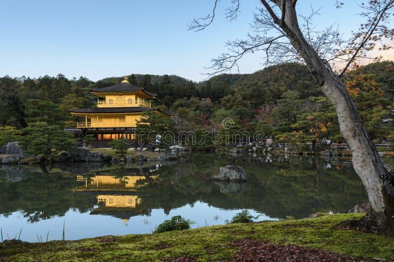 Kinkaku-JI, temple du pavillon d'or à Kyoto, Japon images stock