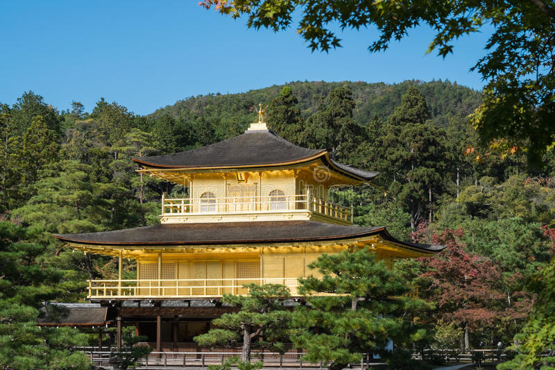 Kinkaku-ji Temple. stock photo