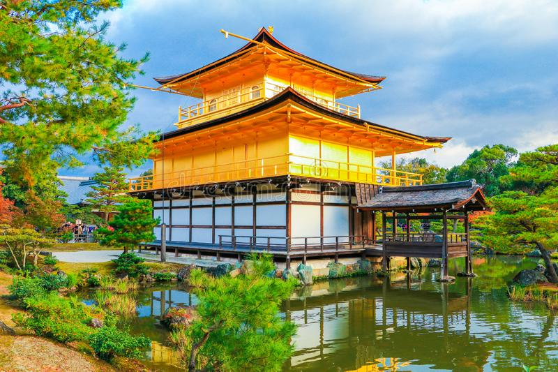 Kinkaku-ji Temple of the Golden Pavilion is a zen buddhist temple and one of the most stock images