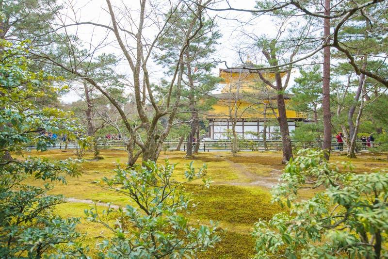 Kinkaku -kinkaku-ji, het Gouden Paviljoen, een Zen Buddhist-tempel in Kyoto, stock fotografie