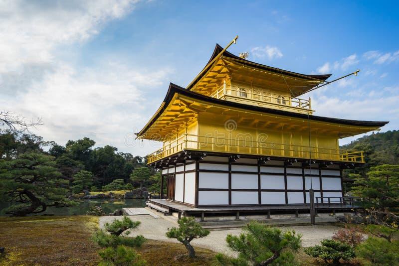 Kinkaku -kinkaku-ji, het Gouden Paviljoen in Kyoto, Japan royalty-vrije stock afbeeldingen