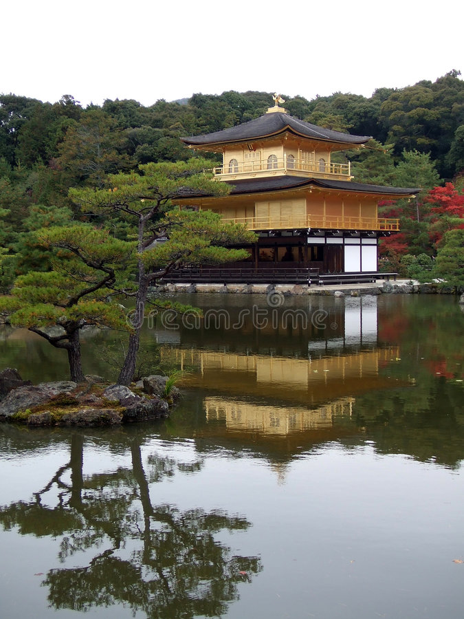 kinkakuji świątyni zdjęcie stock