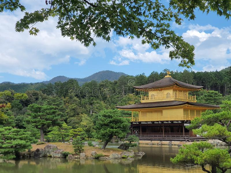 Kinkakuji Golden Pavillon. Kyoto, japan royalty free stock images