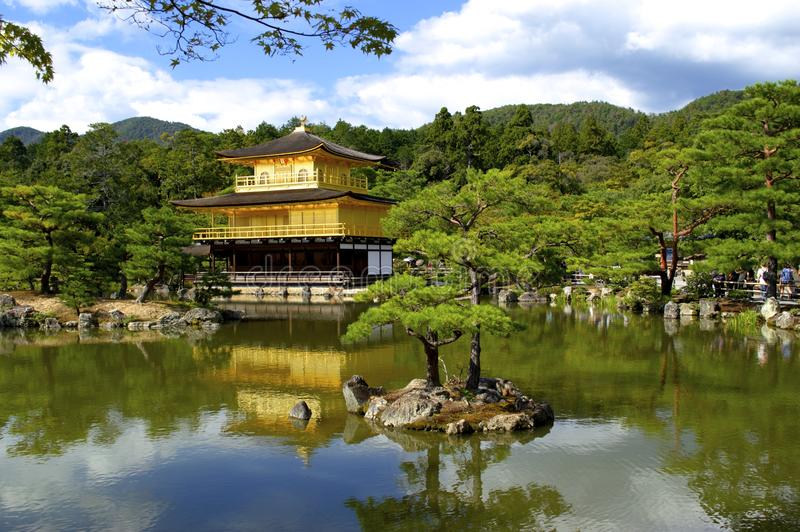 Kinkakuji golden pavillon temple kyoto. A UNESCO world heritage site in Japan royalty free stock photo