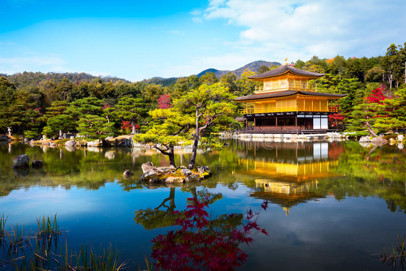 Kinkakuji tempel 免版税库存图片